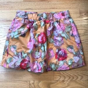 J. Crew poppy watercolor bubble skirt size 4